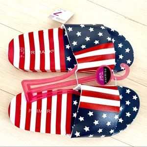 Patriotic American Flag USA Stars Stripes Slippers